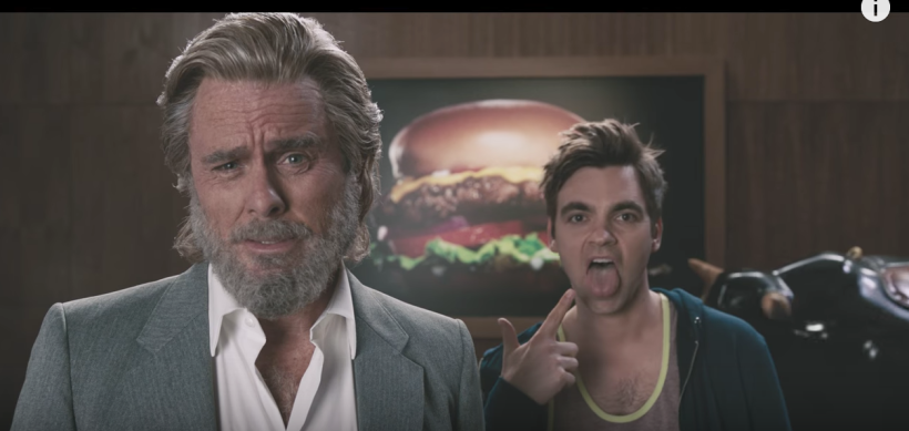 father son hardee's commercial screenshot